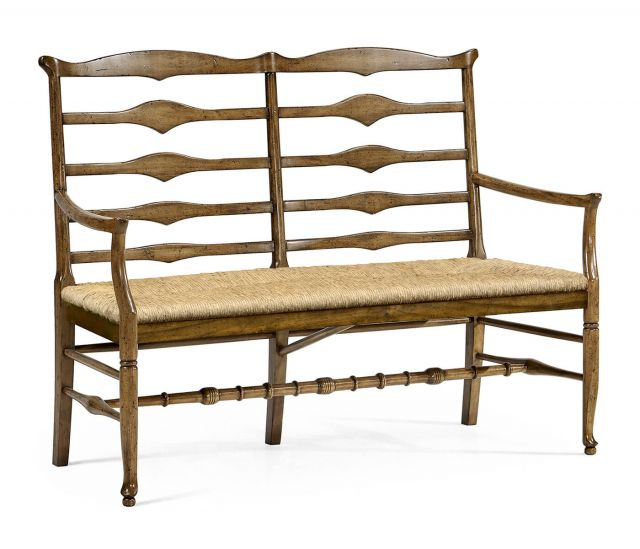 Jonathan Charles Medium Driftwood Double Bench Ladder Back