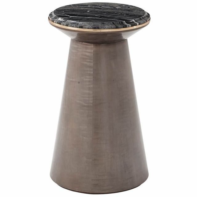 Theodore Alexander Grace Accent Table with Marble Top - Agate