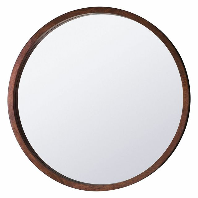Pavilion Chic Burnsall Round Mango Wood Mirror