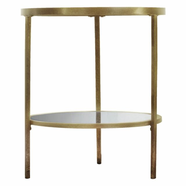 Pavilion Chic Pierre Side Table in Champagne