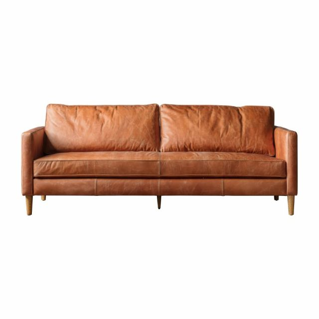Pavilion Chic Fulham 2 Seater Sofa in Brown Leather