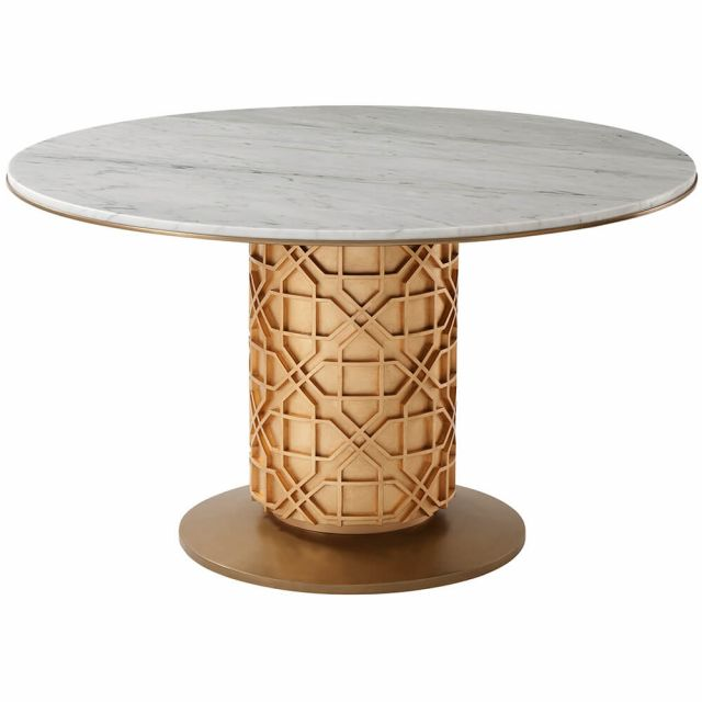 Theodore Alexander Colter Small Round Dining Table in Marble