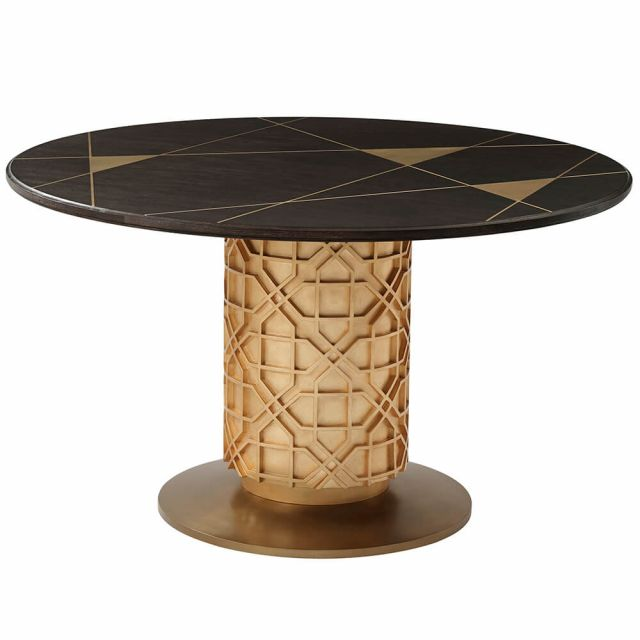 Theodore Alexander Colter Small Round Dining Table in Veneer