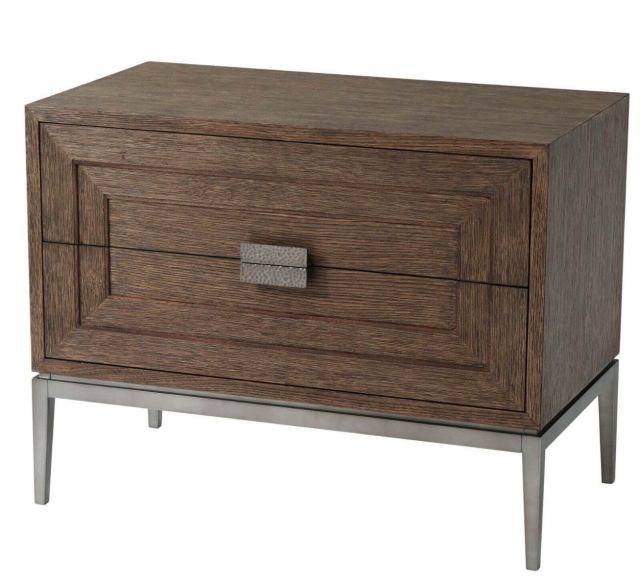 Theodore Alexander Bedside Chest Genevra in Charteris Finish