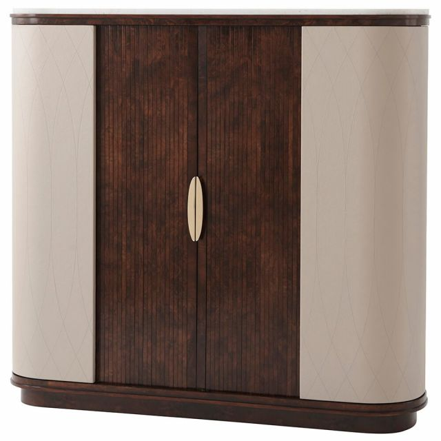 Theodore Alexander Grace Bar Cabinet with Marble Top