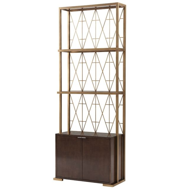 Theodore Alexander Iconic Shelving Unit with Cabinet