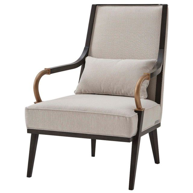 Theodore Alexander Occasional Chair Yves in Oyster