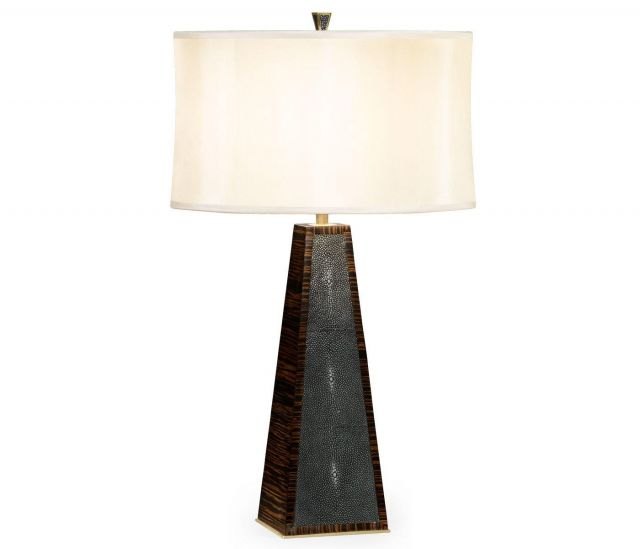 Jonathan Charles Table Lamp in Anthracite Shagreen