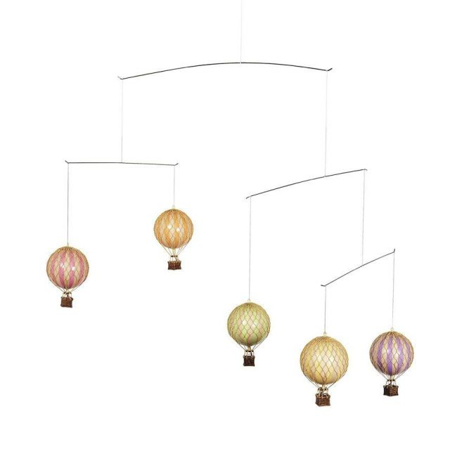 Authentic Models Hot Air Balloon Mobile in Pastel