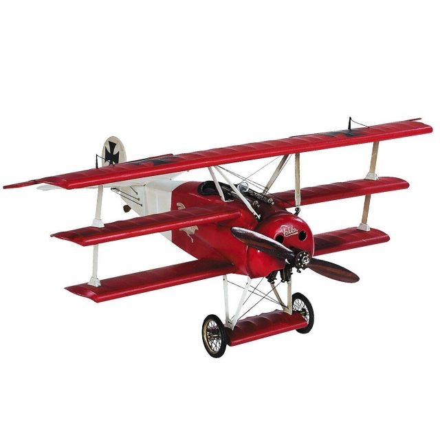 Authentic Models Desktop Fokker Triplane, Red Baron, Small