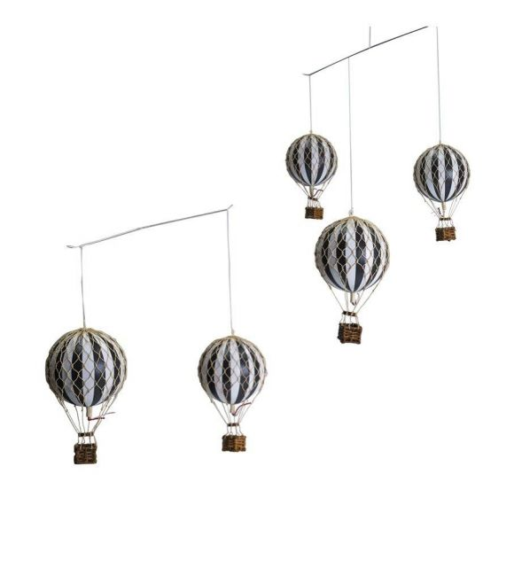Authentic Models Hot Air Balloon Mobile in Black & White