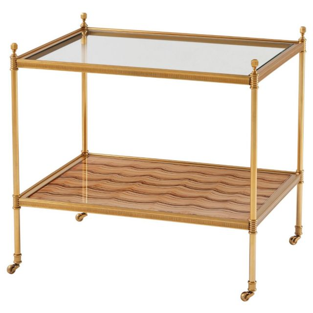 Theodore Alexander Side Table Evie in Brass