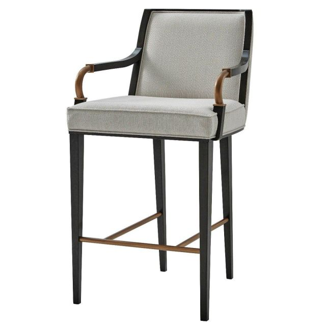 Theodore Alexander Bar Stool Yves in Oyster