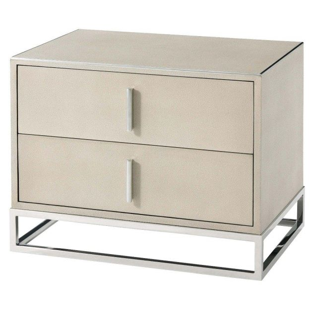 TA Studio Bedside Table Blain in Overcast Shagreen