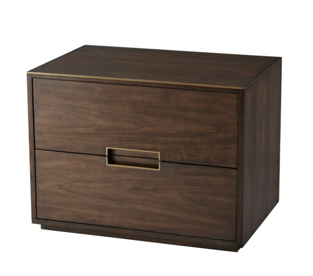 TA Studio Large Bedside Table Bosworth in Almond