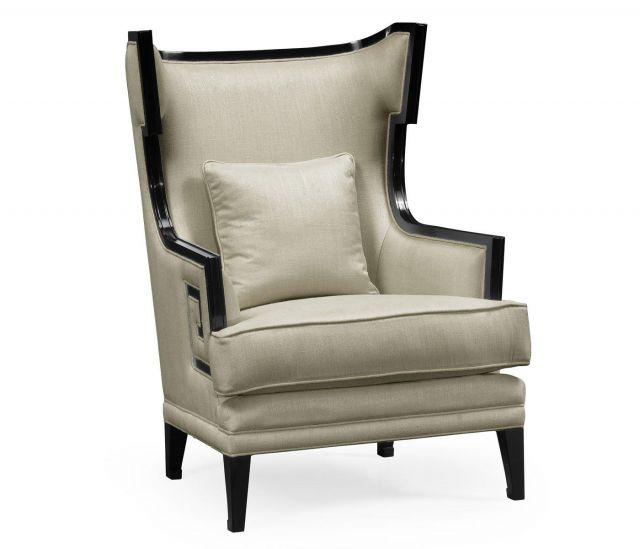 Jonathan Charles Armchair Greek Revival Painted Black - Mazo