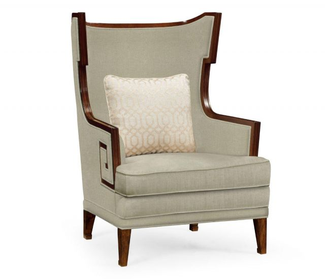 Jonathan Charles Armchair Greek Revival in Walnut - Mazo