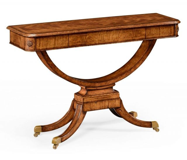 Jonathan Charles Small Console Table Biedermeier on Castors
