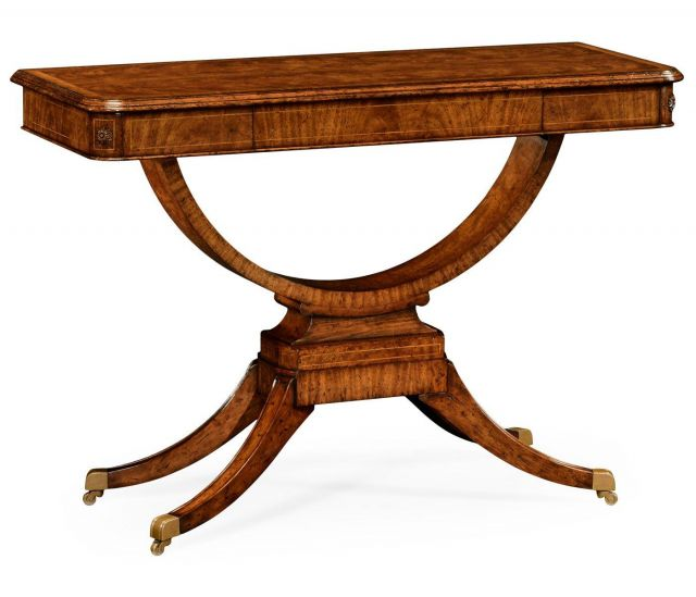Jonathan Charles Large Console Table Biedermeier on Castors