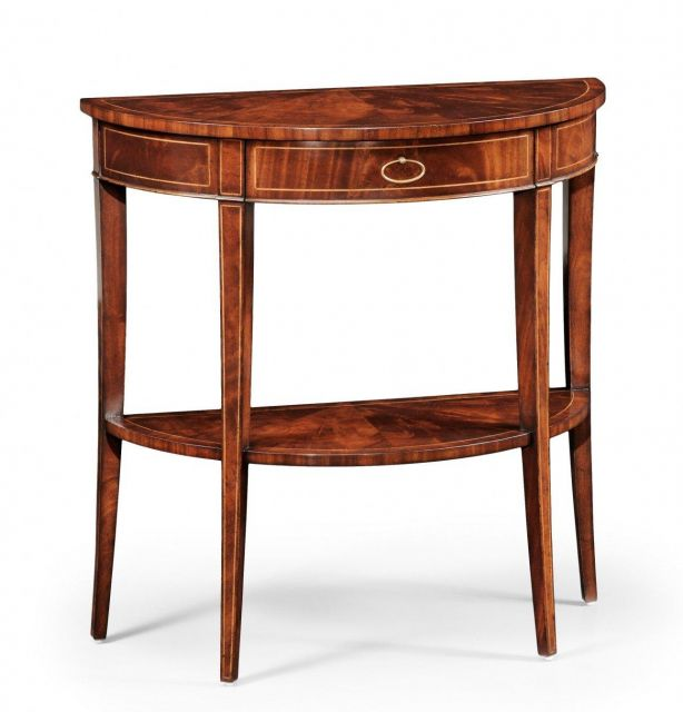 Jonathan Charles Demilune Console Table Boxwood