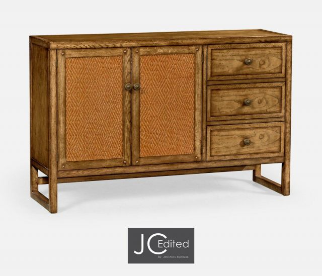 Jonathan Charles Buffet Cabinet in Brown Chestnut