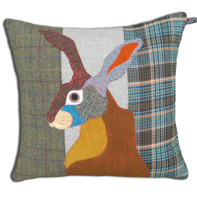 Carola Van Dyke Cushion Brown Hare