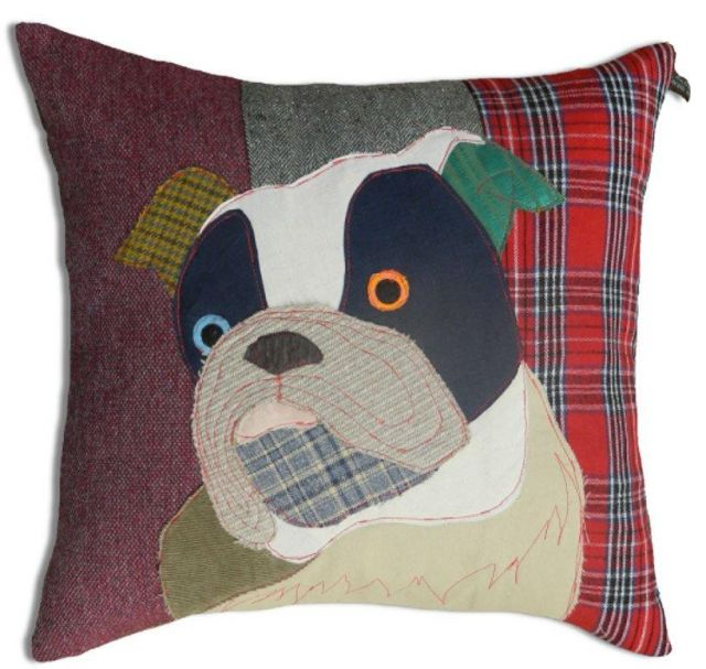 Carola Van Dyke Cushion Edgar The Bull Dog