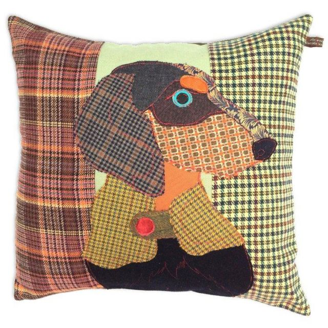 Carola Van Dyke Cushion Franz The Dachshund
