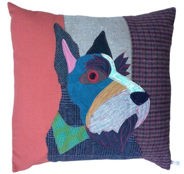 Carola Van Dyke Cushion Hamish the Scottie