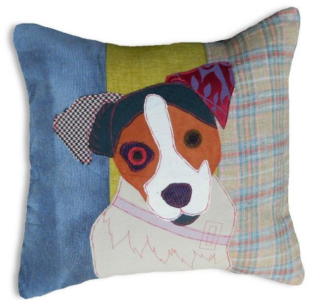Carola Van Dyke Cushion Humphrey The Jack Russell