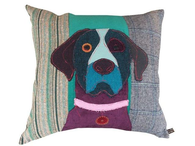 Carola Van Dyke Cushion Monty The Labrador