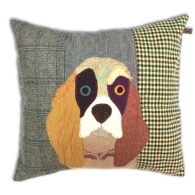 Carola Van Dyke Cushion Muriel The Spaniel