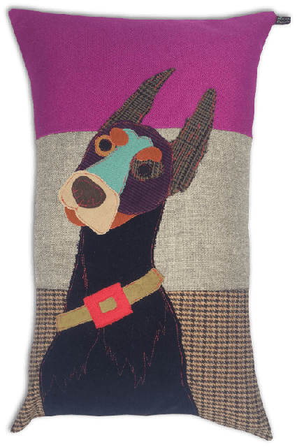 Carola Van Dyke Cushion Prince The Doberman