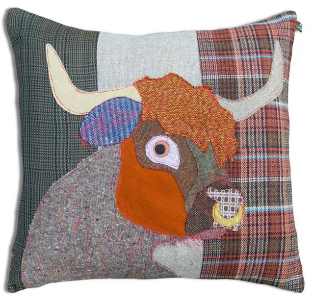 Carola Van Dyke Cushion Rory The Highland Bull