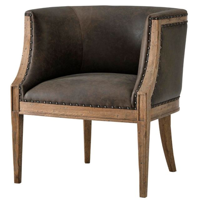 Theodore Alexander Orlando Accent Chair in Leather