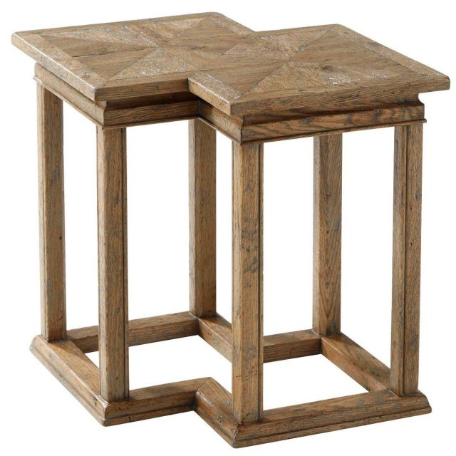 Theodore Alexander Bunching Accent Table Kyron in Echo Oak