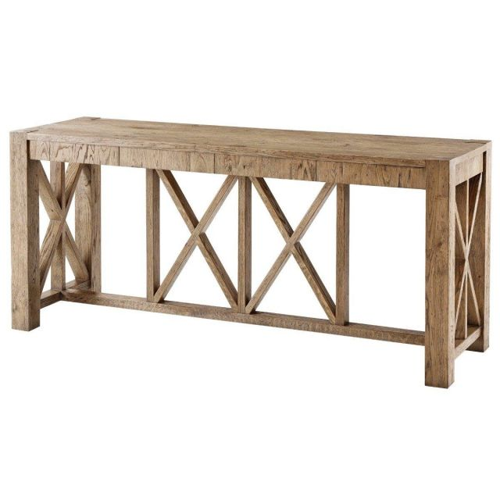 Theodore Alexander Console Table Orlando in Echo Oak