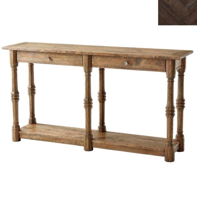 Theodore Alexander Console Table Galloway in Dark Echo Oak
