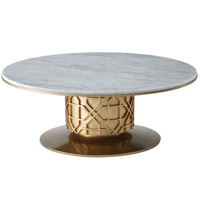 Theodore Alexander Colter Coffee Table in Marble