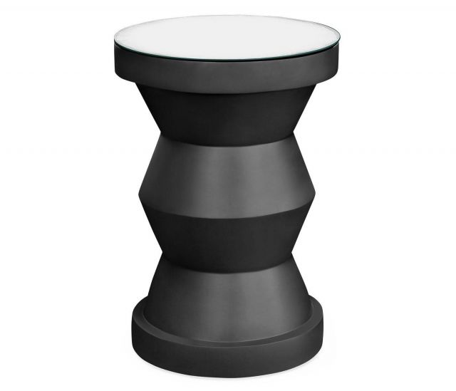 Jonathan Charles Round Wine Table Modern - Charcoal