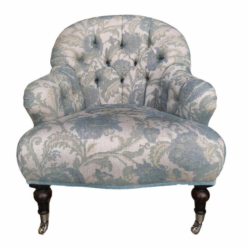 Duresta Clearance Belton Chair In Gardenia Blue Sand