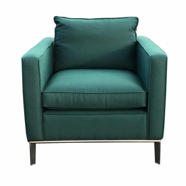 Duresta Clearance Brooklyn Chair in Balance Grid Viridian