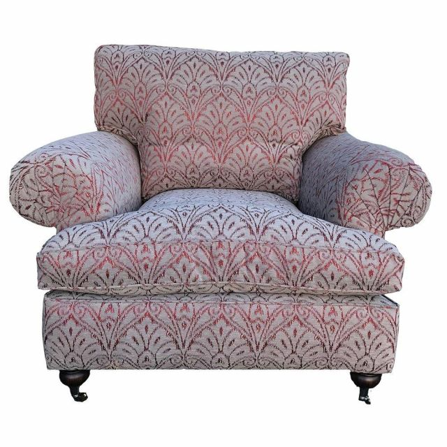 Duresta Clearance Chair Burford in Florence Damask Russet