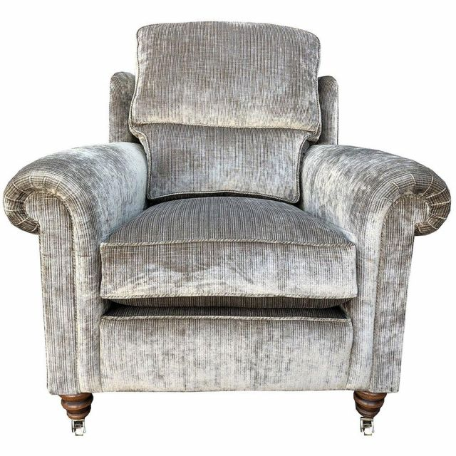 Duresta Clearance Chair Southsea in Renishaw Velvet Oyster