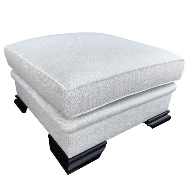 Duresta Clearance Footstool Lygon in Brillante Cream