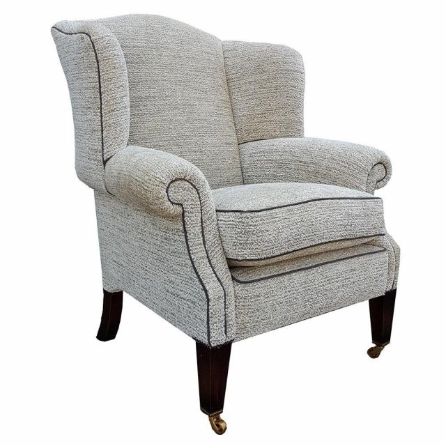 Duresta Clearance Wing Chair Somerset in Pelouse Sable