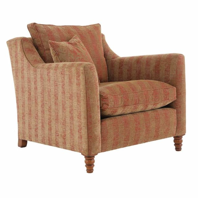 Duresta Clearance Hoxton Armchair in Symphony Stripe Russet Sand