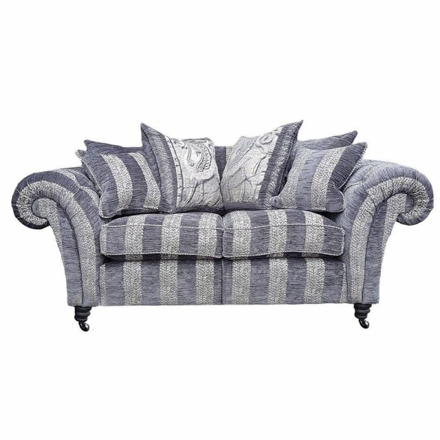 Duresta Clearance Sofa New Elgar Medium in Riverrun Stripe Iron
