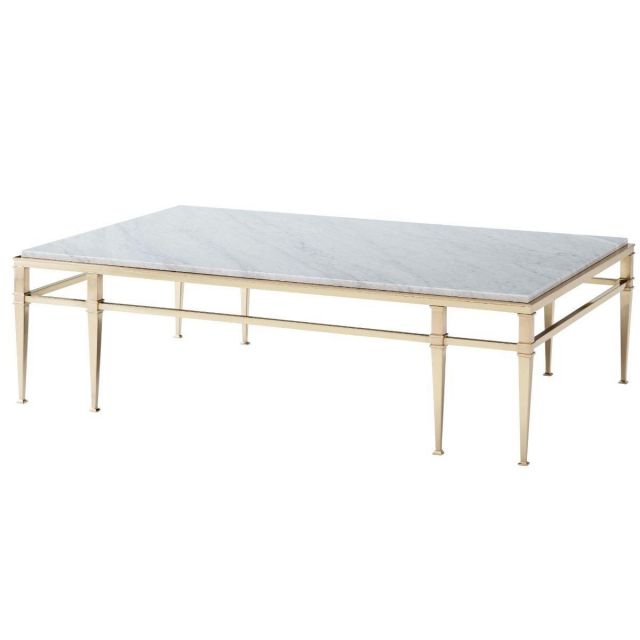 Theodore Alexander Coffee Table Annalyn in Marble