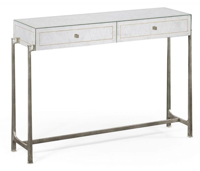 Jonathan Charles Console Table 1930s in Eglomise